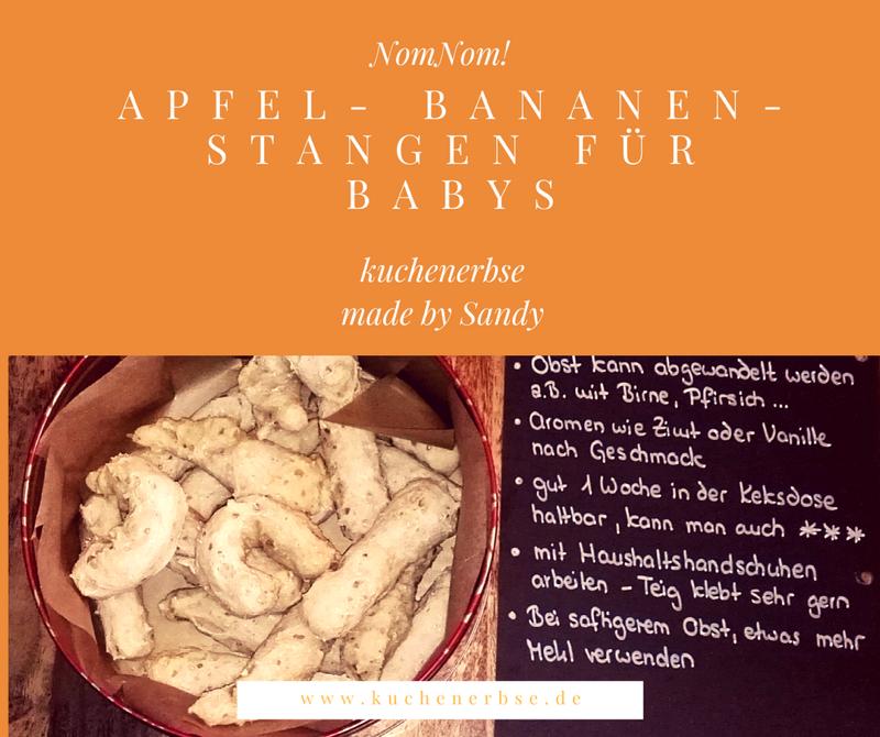 Sandy backt: Apfel-Bananen-Stangen für Babys